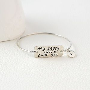 Jewelry - My Story Isn't Over Yet Inspirational Bracelet B20